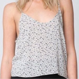 Brandy Melville Floral Cropped Tank